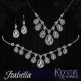 ::: Krystal ::: Isabella - Jewelry Set - Platinum