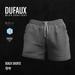 DUFAUX - beach shorts - gray