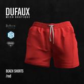 DUFAUX - beach shorts - red