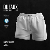 DUFAUX - beach shorts - white