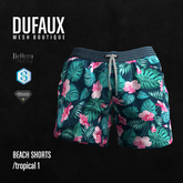 DUFAUX - beach shorts - tropical 1