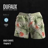 DUFAUX - beach shorts - tropical 3