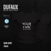 DUFAUX - dean shirt *custom texture* - black