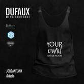 DUFAUX - jordan tank *custom pic* - black