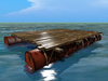 Barrel Barge Mesh - Low Prim - 3 Prim each