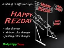 Rezday Sign *Box*