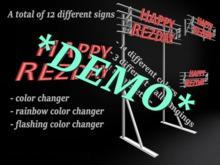 Rezday Sign DEMO *Box*