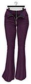 Addams - Stacy - Denim Flare Pants - Open Zipper #12