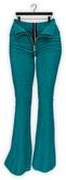 Addams - Stacy - Denim Flare Pants - Open Zipper #14