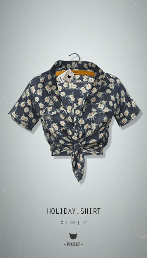-Pixicat- Holiday Shirt (Daisie)