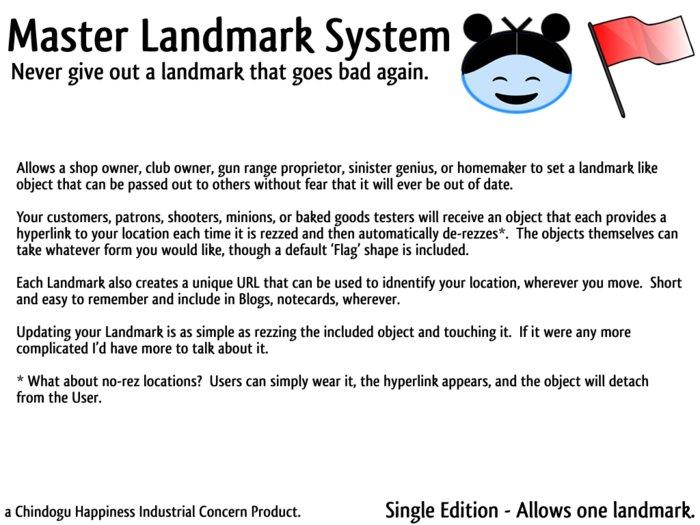 Master Landmark System - Single Edition