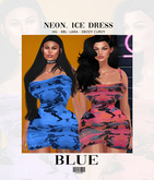 NEON. Ice Dress Blue ::Kloss::