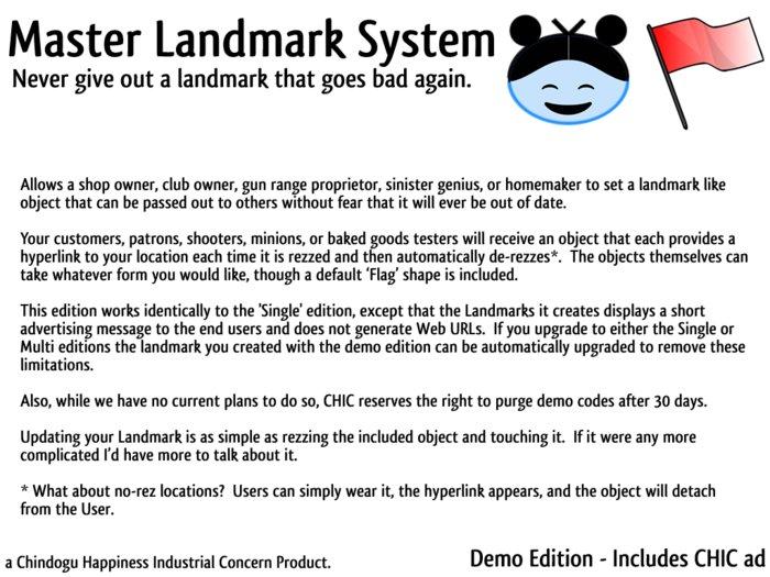 Master Landmark System - Demo Edition