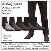 B-UniQ Men - Ankle Cowboy Boots2