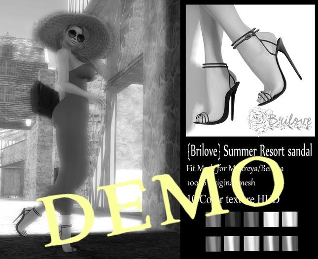 {Brilove} Summer Resort sandal - Demo