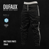 DUFAUX - max trackpants - black