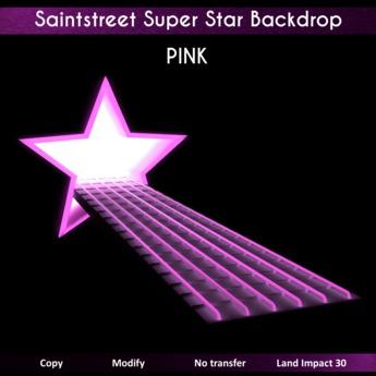 Saintstreet Super Star Backdrop PINK  (Wear me)