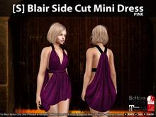 [S] Blair Side Cut Mini Dress Pink