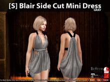 [S] Blair Side Cut Mini Dress Gray