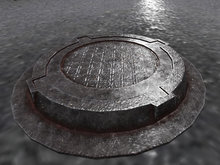 Sewer Mesh - 1 Prim - HD Textures
