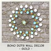 Sequel - Boho Dots Wall Decor - Gold (Wear Me)
