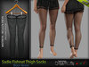 SADIE FEMALE THIGH SOCKS BLACK SINGLE COLOR- MESH - Maitreya Lara, Belleza Freya - FashionNatic