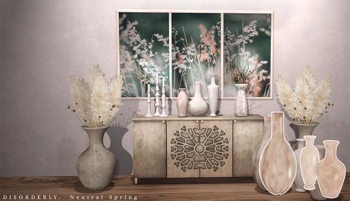 DISORDERLY. / Neutral Spring / Floor Vases