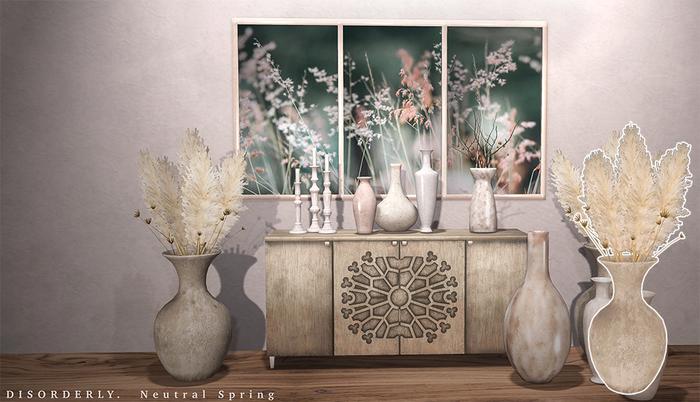 DISORDERLY. / Neutral Spring / Pampas Vase