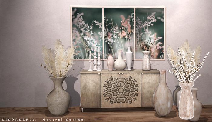 DISORDERLY. / Neutral Spring / Stick Vase