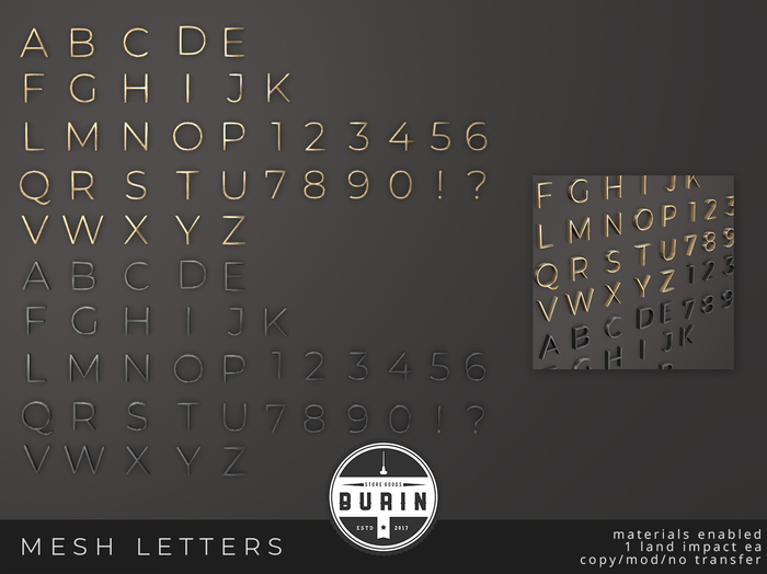 Burin: Mesh Letters I