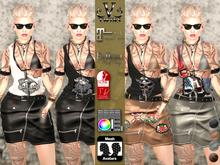 V-Twins- Biker Clothes - Matchmaker Biker Version **MESH Outfit [Mesh Bodies Compatible] Maitreya Slink Belleza