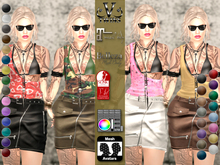 V-Twins- Casual Clothes - Matchmaker Color Version **MESH Outfit [Mesh Bodies Compatible] Maitreya Slink Belleza