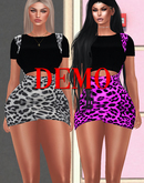 Overall Leopard Dress Set [DEMO] ::Kloss::
