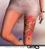 Roses Skull - Leg Tattoo [CAROL G]