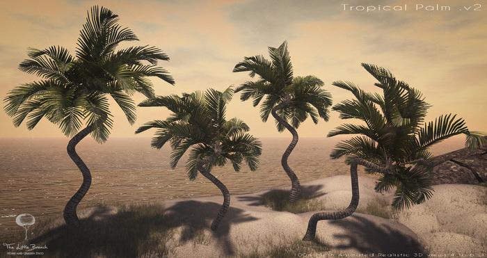 LB Tropical Palm v2 Animated Mesh