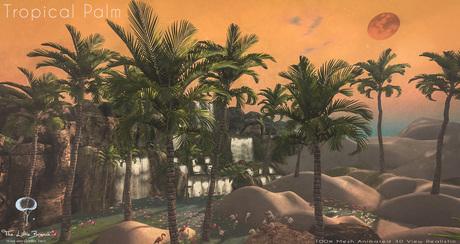 LB Tropical Palm Animated Mesh