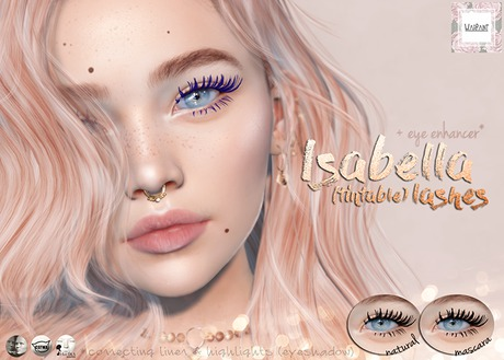 WarPaint* Isabella lashes [Lelutka - Origins]