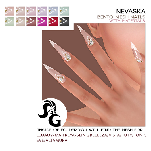 ::SG:: Nevaska Bento Mesh Nails (J-19)