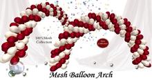 Mesh Balloon Arch [red&white]