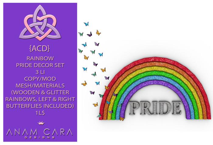 {ACD} Rainbow Pride Decor Set