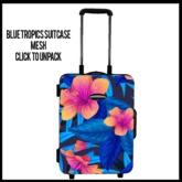 Blue Tropics Suitcase (add me to unpack)