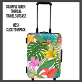 Colorful Queen Tropical Suitcase