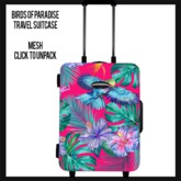 Birds of Paradise Travel Suitcase (add to unpack)