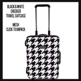 Black and White Checker Travel Suitcase (add to unpack)