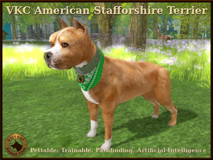 VKC American Staffordshire Terrier Fawn Delivery Kennel