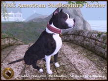 VKC American Staffordshire Terrier Black-Artificially Intelligent (AI) -Trainable -No Food Required -Virtual Kennel Club