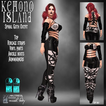 Kemono Island - Spinal Goth Outfit