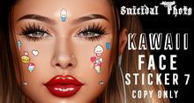 [Suicidal Thots] Kawaii 7 Face Sticker (rez & open)