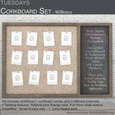 Tuesdays Corkboard Set