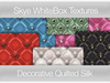 Decorative Quilted Silk -  Skye WhiteBox Full PermsTextures